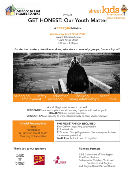 GET HONEST  Our Youth Matter Event